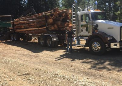 Photo of Franks Firewood Logging Truck and Neil Vaine